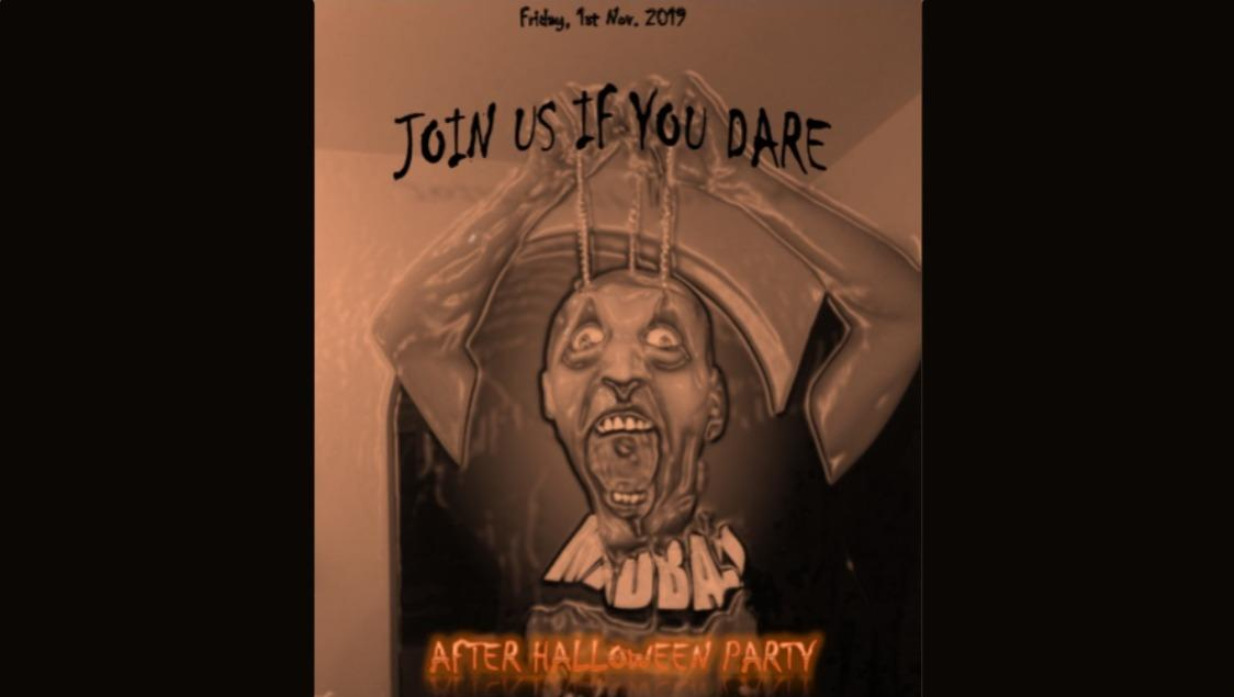 AFTER HALLOWEEN PARTY - Friday, 1st Nov. 2019